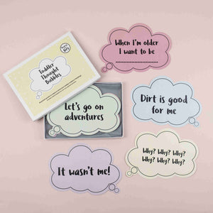 Bearsy and The Boy Toddler Thought Bubble Milestone Cards - The Monkey Box