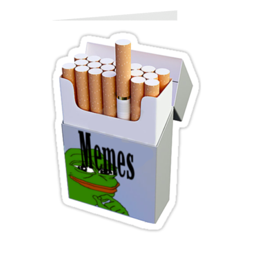 Meme Cigarettes Greeting Cards