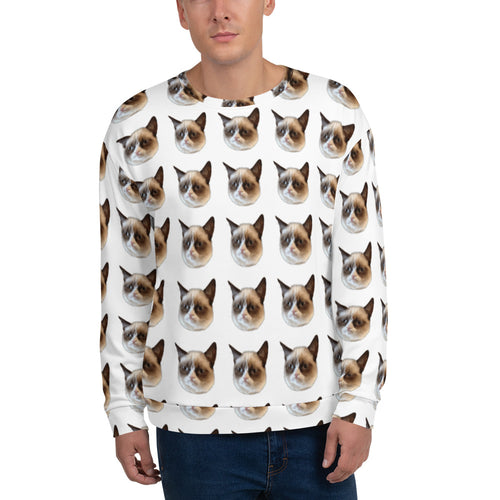 Grumpy Cat All Over Men's Sweater