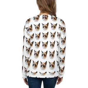 Grumpy Cat All Over Women's Sweater