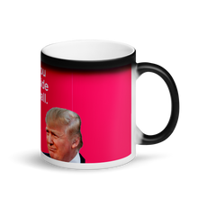 Load image into Gallery viewer, Trump I Want You On My Side of the Wall Surprise Meme Black Magic Mug