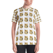 Load image into Gallery viewer, Doge All Over Women's T-shirt