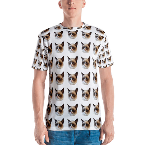 Grumpy Cat All Over Men's T-shirt