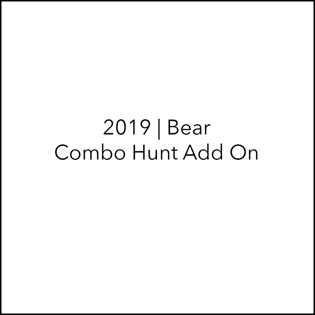 Bear Hunt | Elk-Bear Combo