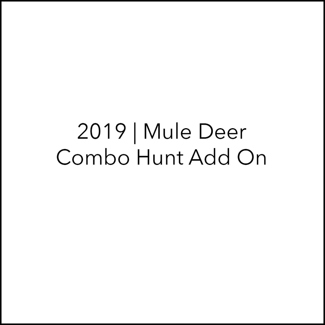 Mule Deer Hunt | Elk-Deer Combo