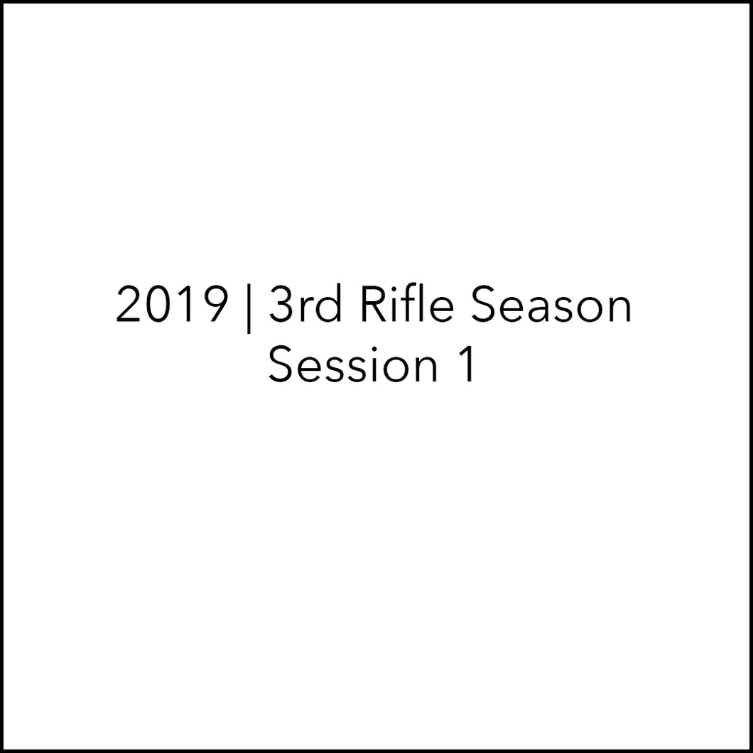 3rd Rifle Elk Hunt | Nov 1-Nov 6