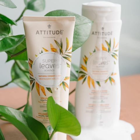 ATTITUDE best ingredients natural shampoo and conditionner vegan