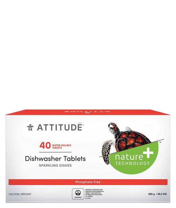 13241 ATTITUDE Dishwasher Tablets - 40-count - Water Soluble  _en?_main?