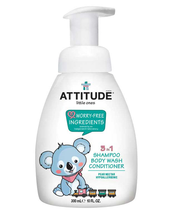 16600 ATTITUDE 3-in-1 Baby Shampoo, Body Wash & Conditioner - Pear Nectar _en?_main?