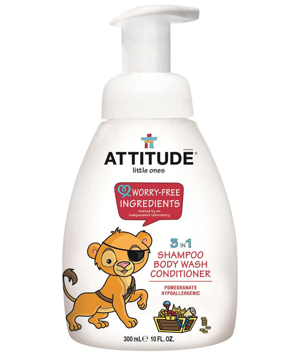 16607 ATTITUDE 3-in-1 Baby Shampoo, Body Wash & Conditioner - Pomegranate  _en?_main?