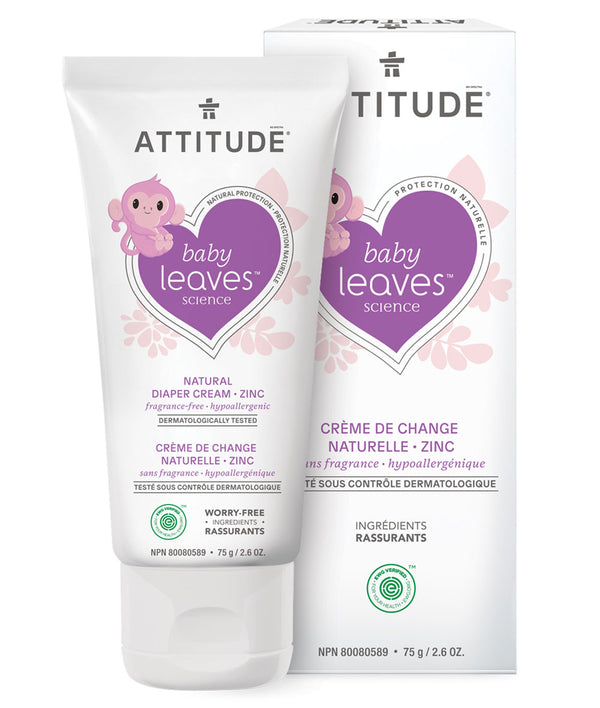 16711 ATTITUDE Baby Leaves™ - Crème de change naturelle bébé - Sans fragrance  _fr?_main?
