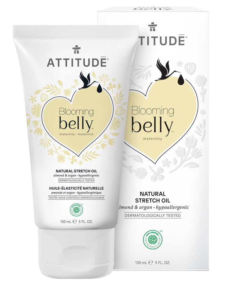 18111 ATTITUDE Blooming Belly™ - Pregnancy Stretch Mark Oil - EWG Safe - Almond & Argan _en?_main?