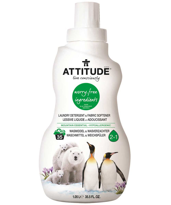 52340 ATTITUDE 2-in-1 Laundry Detergent & Fabric Softener : Mountain Essentials _en?_main?