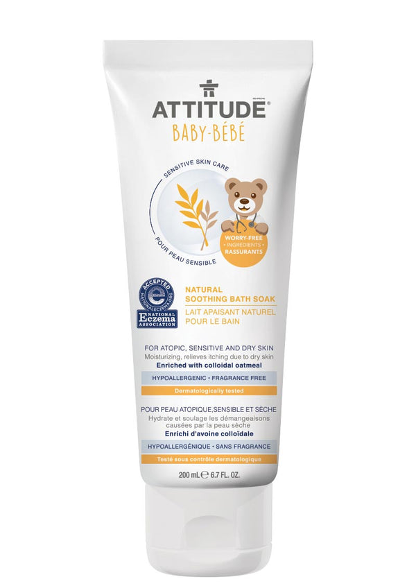 60831 ATTITUDE Baby Bath Soak - For Sensitive Skin, atopic & eczema - Fragrance-free  _en?_main?
