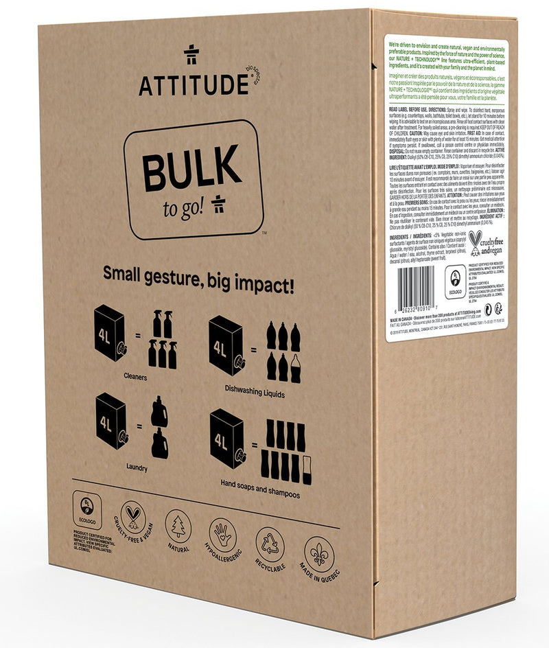 80910 ATTITUDE Bulk To Go Multi Purpose Cleaner - Disinfectant 99.9% _en?_side?