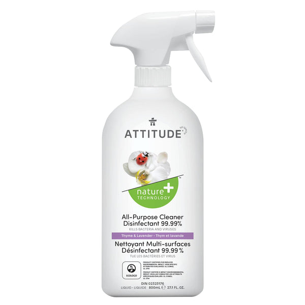 ATTITUDE Nature+ All Purpose Cleaner Disinfectant 99.9% Thyme & Lavender_fr? _main?