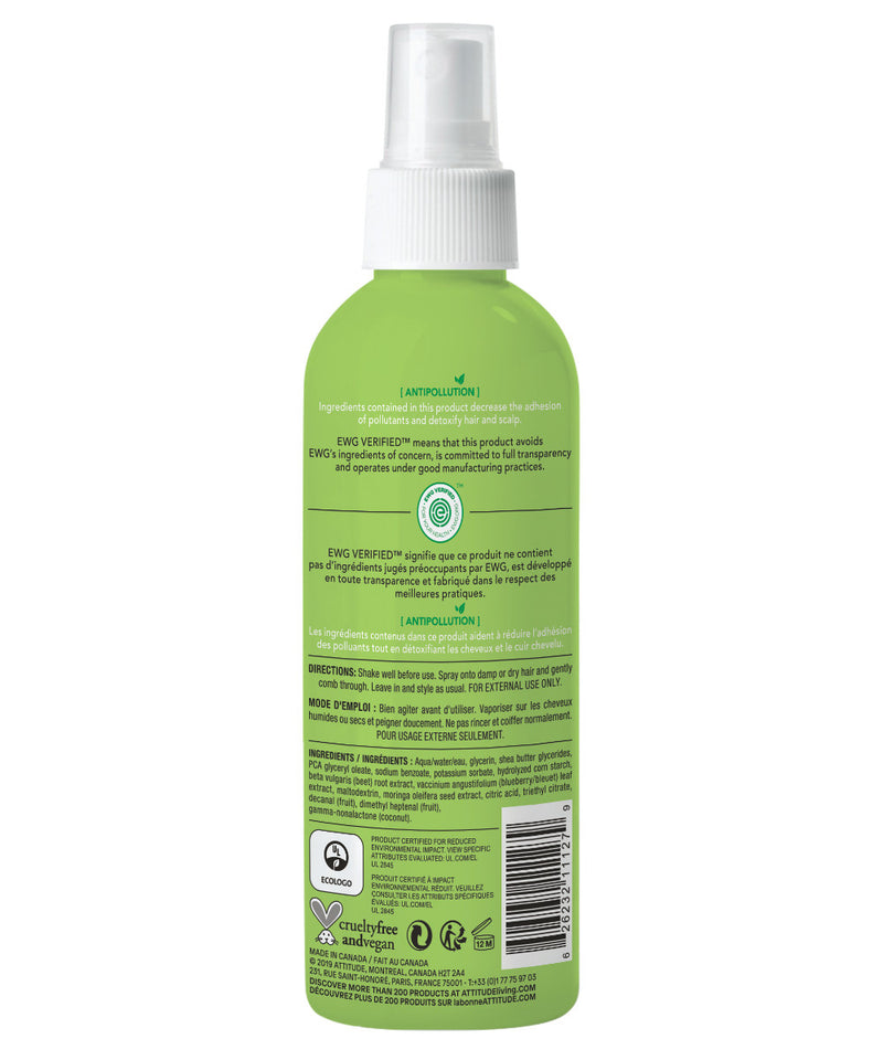 Kid Hair Detangler hypoallergenic, Watermelon & Coco back of the bottle_en?_hover?