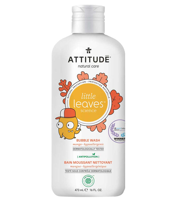 18318 ATTITUDE - Little Leaves™  - Bain moussant pour enfant - Mangue _fr?_main?