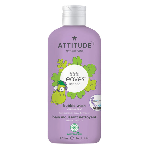 18315 ATTITUDE  Little Leaves™  Bain moussant pour enfant  Poire Vanille _fr?_main?