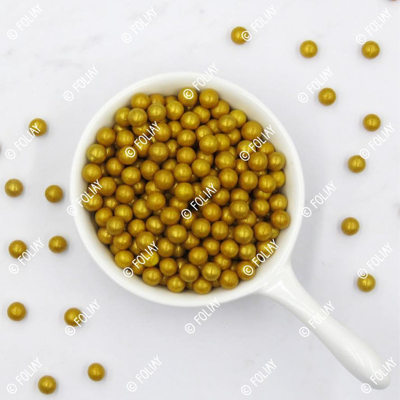 Gold Metallic Jumbo Beads ( Large)