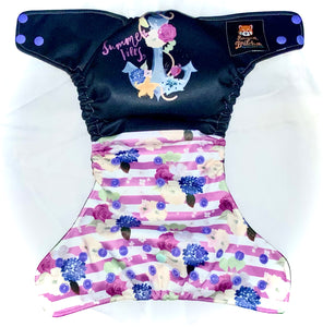 Ready To Ship, One-Size  Organic AIO+Pocket Diaper