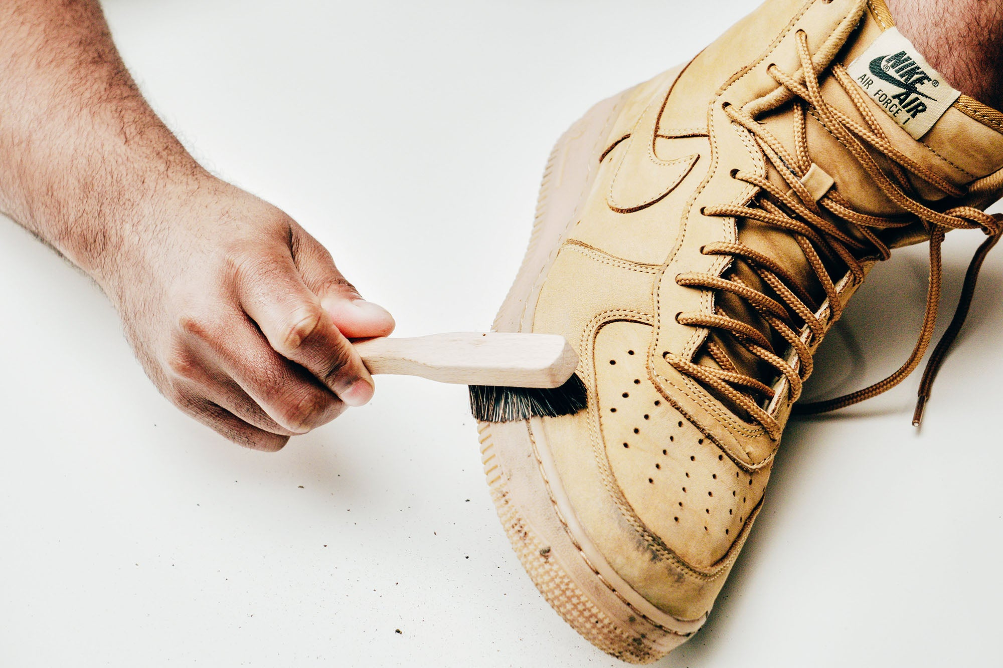 Jason Markk Sneaker Care 101 How to clean Nubuck shoes step 1