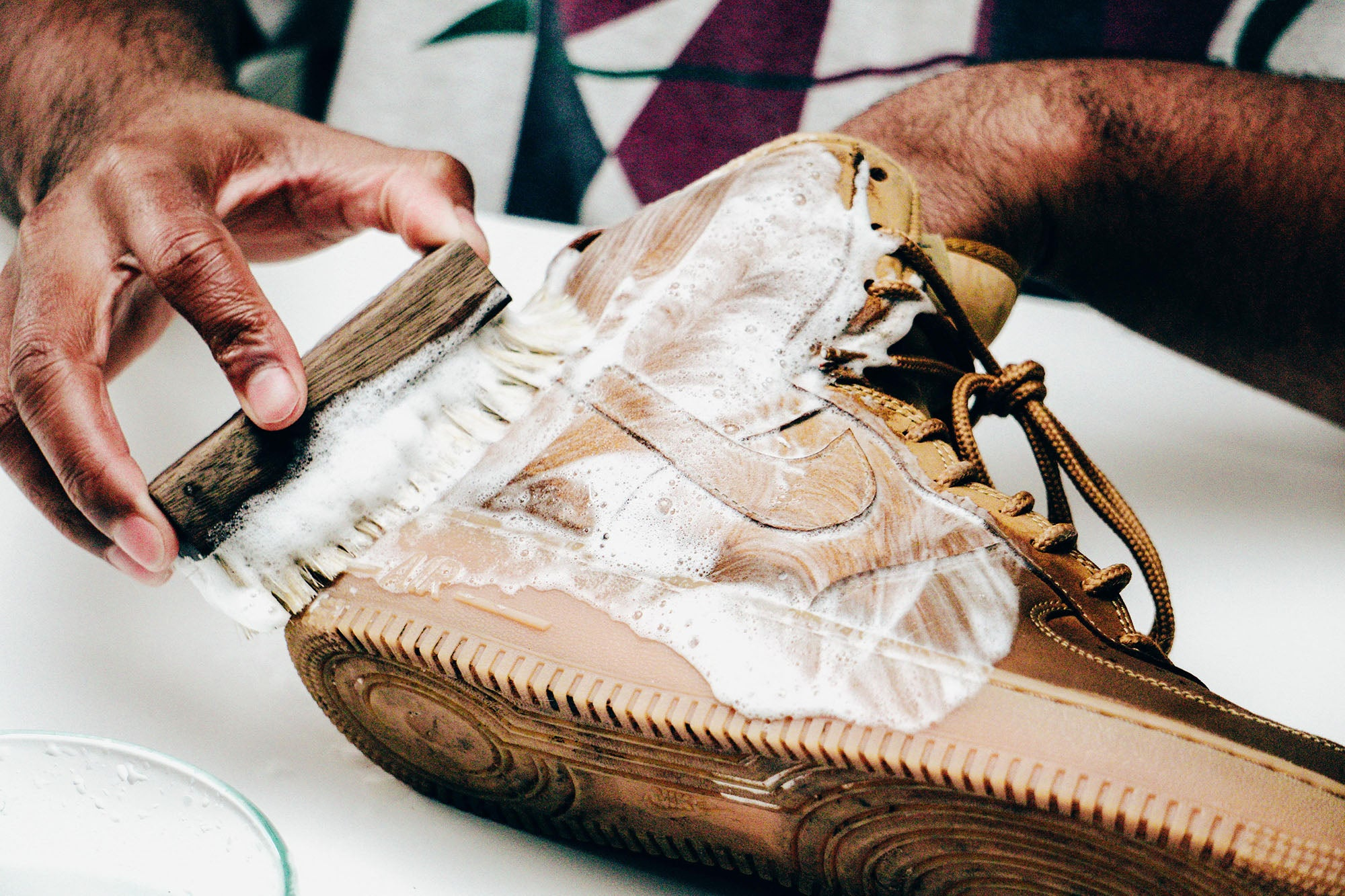 Jason Markk Sneaker Care 101 How to clean Nubuck shoes step 16
