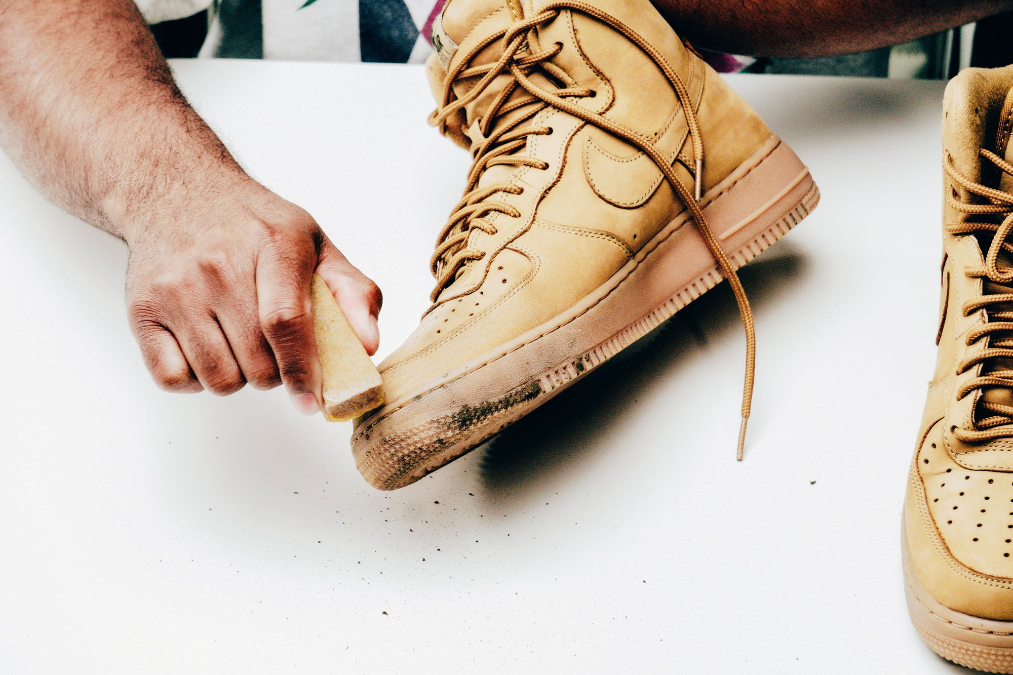 Jason Markk Sneaker Care 101 How to clean Nubuck shoes step 2