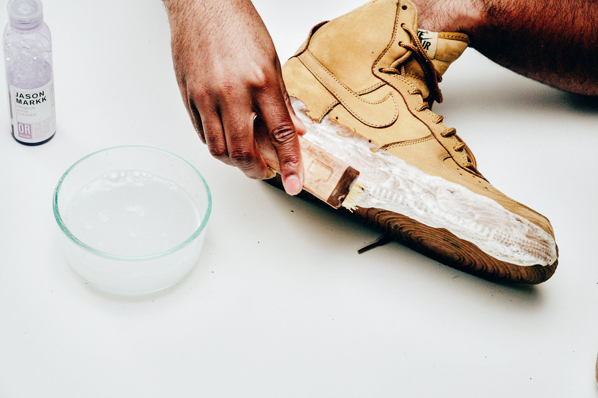 Jason Markk Sneaker Care 101 How to clean Nubuck shoes step 6