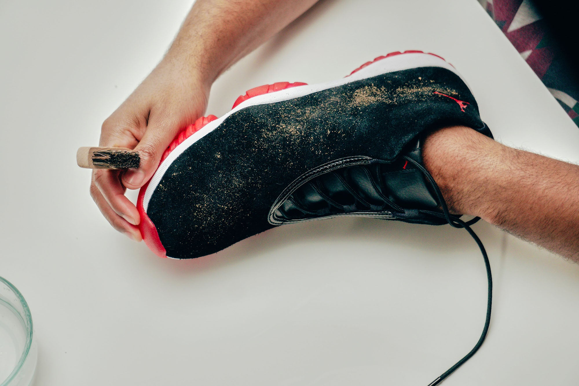 Jason Markk Sneaker Care 101 How to clean Suede shoes step 1