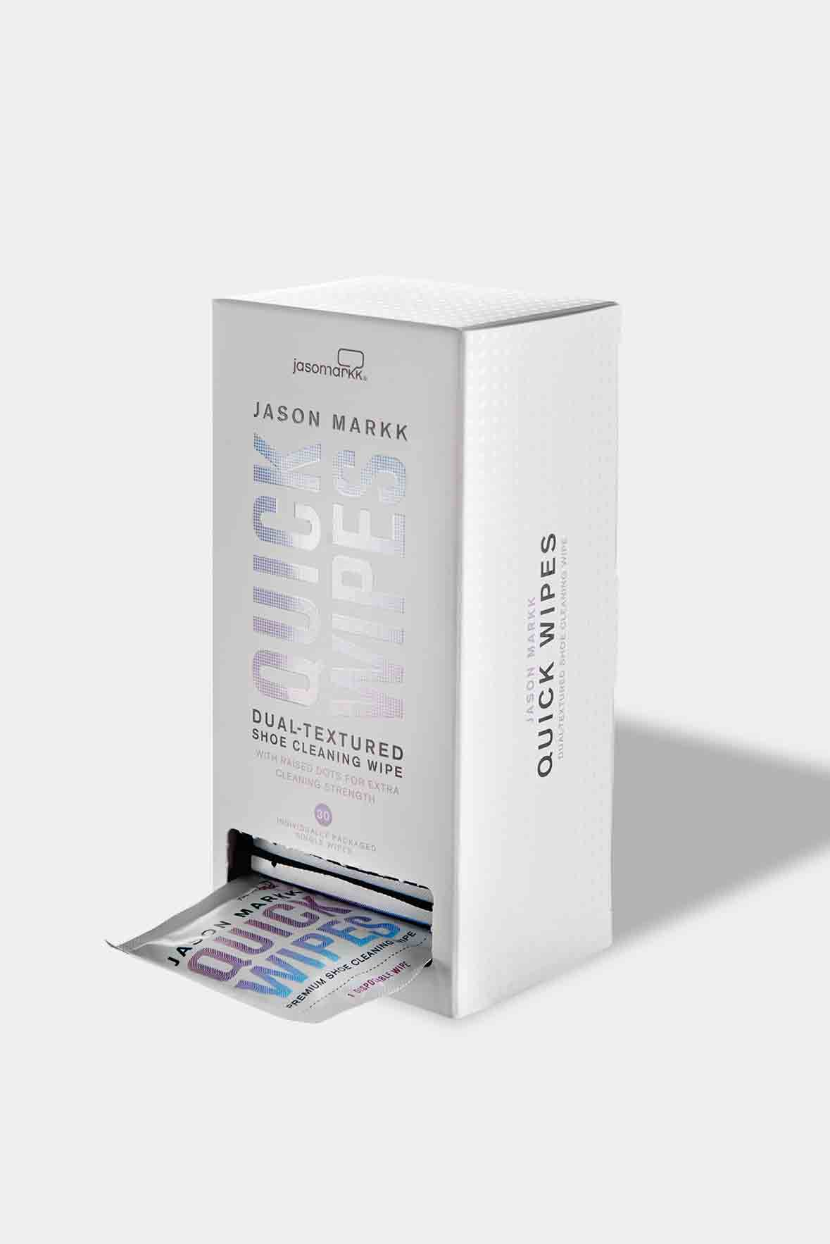 Jason Markk Quick Wipes - 30 Pack Box. Perfect travel sneaker cleaning wipes.