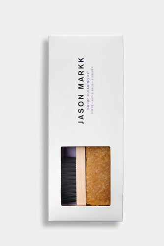 Jason Markk Suede Cleaning Kit. Includes Suede Brush and Eraser.