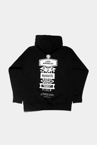 Jason Markk Los Angeles Flagship store exclusive Hoodie. Size Small - XXL, Black & White.