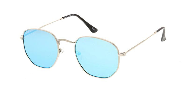 Item: 4672REV Real Revo Unisex Classic Metal Rounded Square Small Frame w/ Spectrum Color Mirror Len