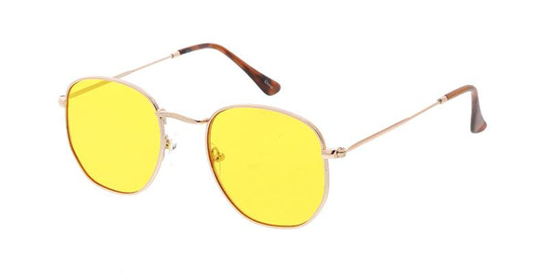 Item: 4795COL  Unisex Classic Metal Rounded Square Small Hipster Frame w/ Color Lens