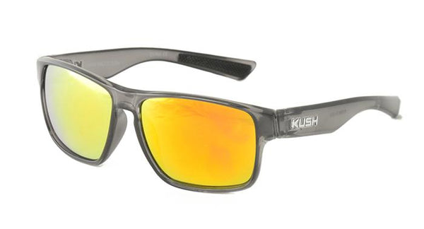 "Item: 6326KSH/RV ""KUSH"" Plastic Crystal Smoke Frame w/ Color Mirror Lens"