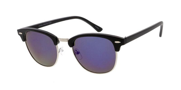 Item: 6822RV Unisex Combo Standard Clubber Frame w/ Woodgrain Print and Color Mirror Lens