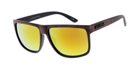 "Item: 7737KSH/RV ""KUSH""Plastic Medium Flat Top Woodgrain Textured Frame w/ Color Mirror Lens"