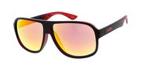 "Item: 7768KSH/RV ""KUSH""  Plastic Large Rounded Rectangular Frame w/ Color Mirror Lens"