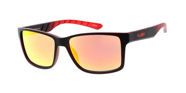 Item: 7770KSH/RV 'KUSH' Plastic Medium Rectangular Frame w/ Color Mirror Lens