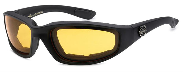 """Choppers"" Item: 8CP924-ND  Night Driver Lens Foam Lined Unisex Motorcycle Glasses"