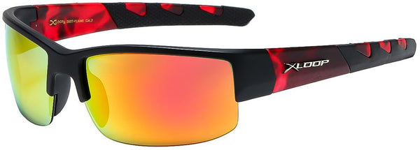 "Item: 8X2607-FLAME ""XLOOP"" Sport Sunglass"