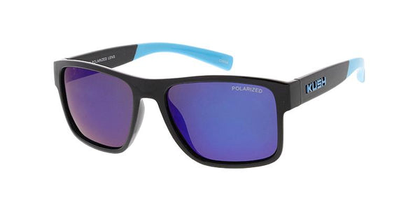Item: KU-POL011RV 'KUSH' Plastic Medium Rectangular Frame w/ Polarized Color Mirror Lens
