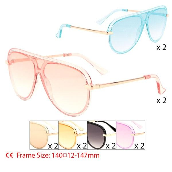 Item: P30336  Crystal Color Shield Aviators