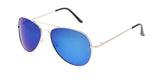 Item: POLM3010RV  Polarized Unisex Metal Aviator Color Mirror Lens