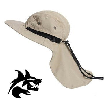 Item: Era2-KHK  Boonie Snap Hat Brim Ear Neck Cover Sun Flap Cap Outdoor Hiking Garden Fishing-Dozen (12 pieces)