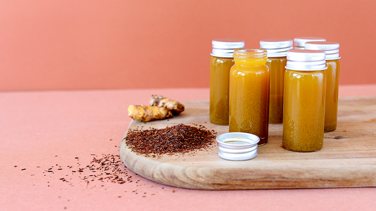 Golden Life Turmeric shot with rooibos