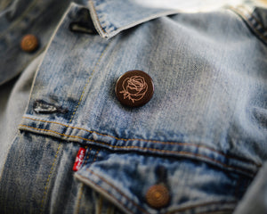 BUTTON PIN | ROSE