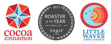Cocoa Cinnamon, Little Waves Coffee, Roaster of the Year Finalist