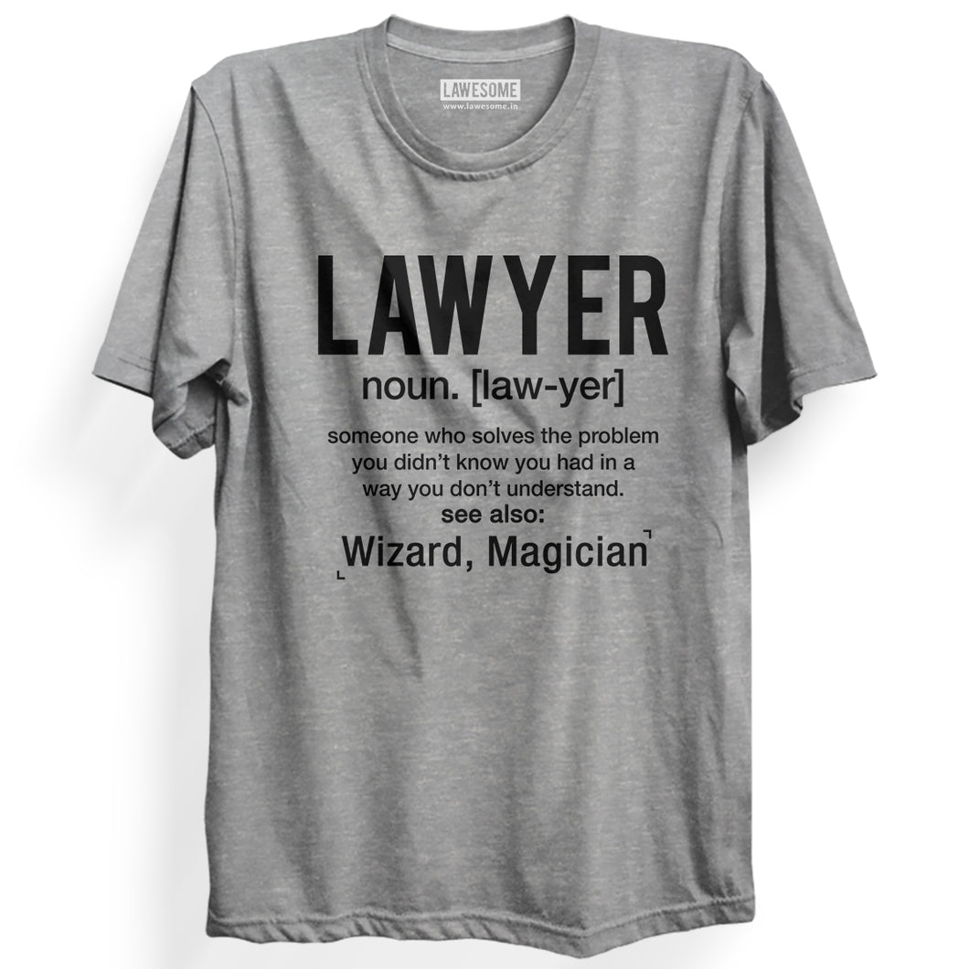 LAWYER Wizard T-shirt [GREY]